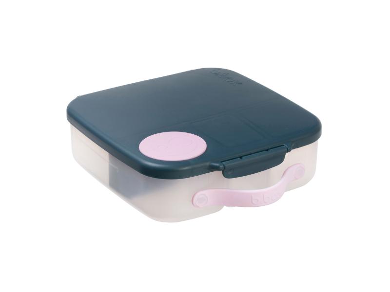 Svačinový box - indigo/růžový 1