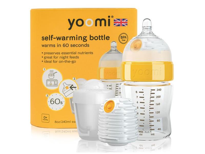 Yoomi Kojenecká láhev 240 ml, ohřívač, dudlík a nádoba na ohřívač - Y18B1W1P