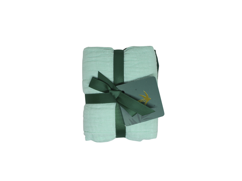 Tommy Lise Bavlněná mušelínová plena Mangrove Green Set 70x70 cm, 2ks