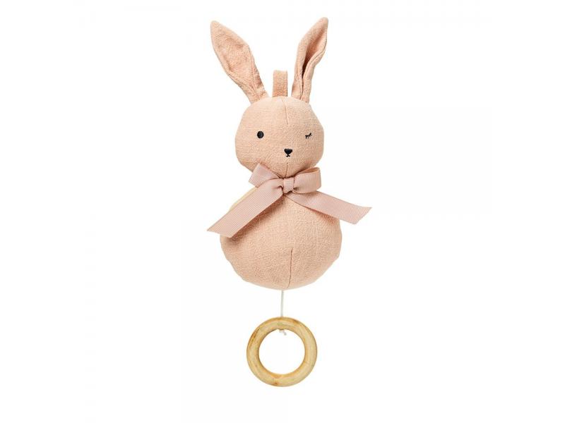 Music Mobile Powder pink Bunny 1