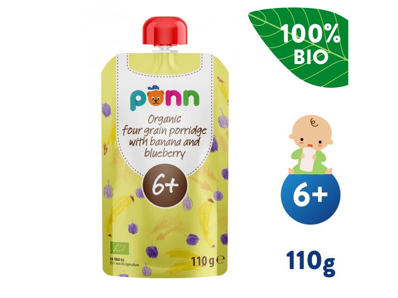 Ponn BIO Banán s borůvkou a obilnými vločkami (110 g) 1
