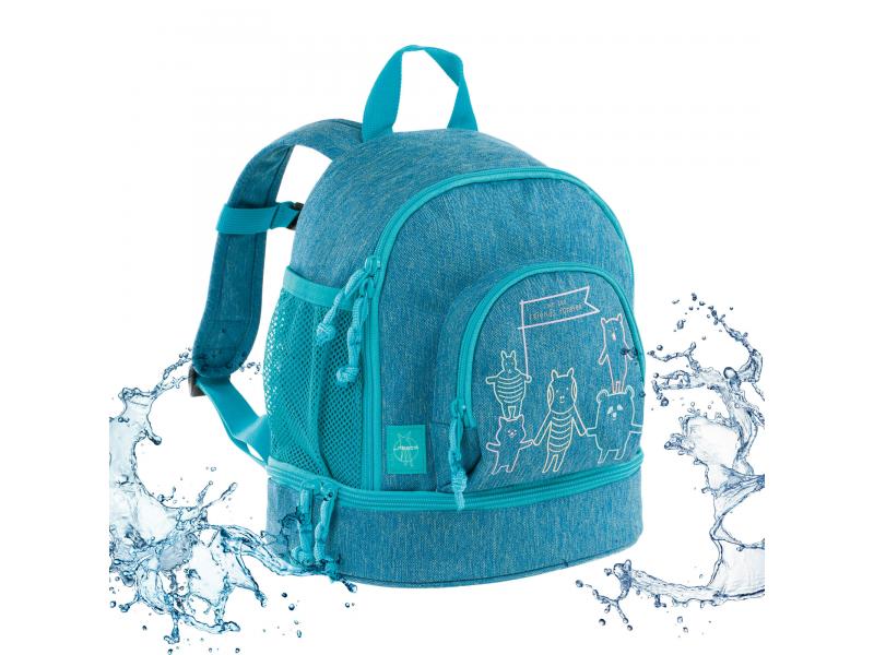 Mini Backpack About Friends mélange blue 1