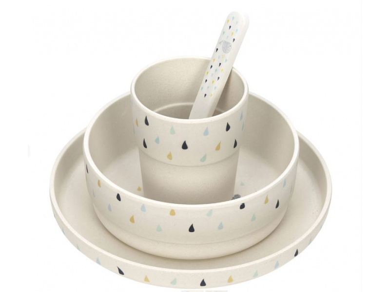 Lässig Set nádobí Bamboo Little Water Whale