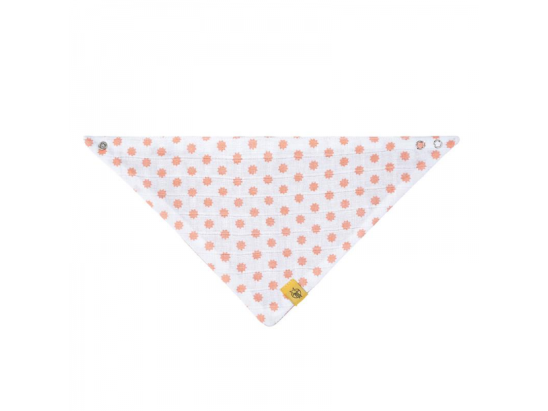 Bandana Muslin Little Chums Stars light pink 1