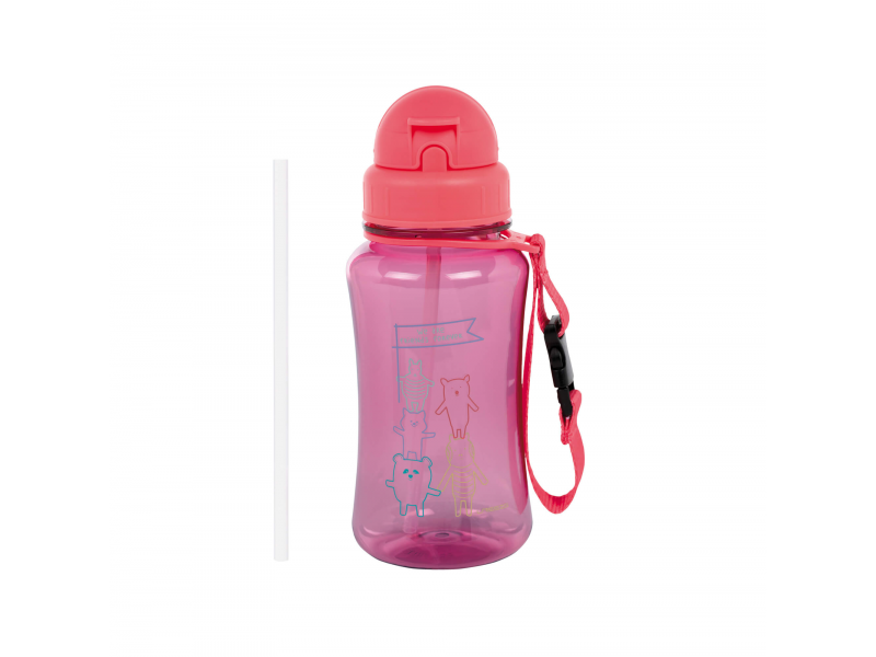 Drinking Bottle About Friends pink 1