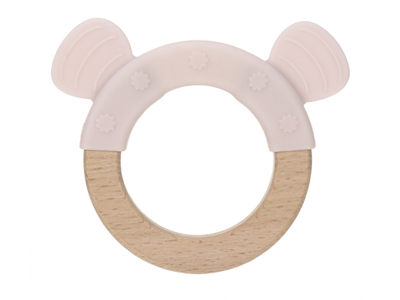 Kousátko Ring Wood/Silicone Little Chums mouse 1