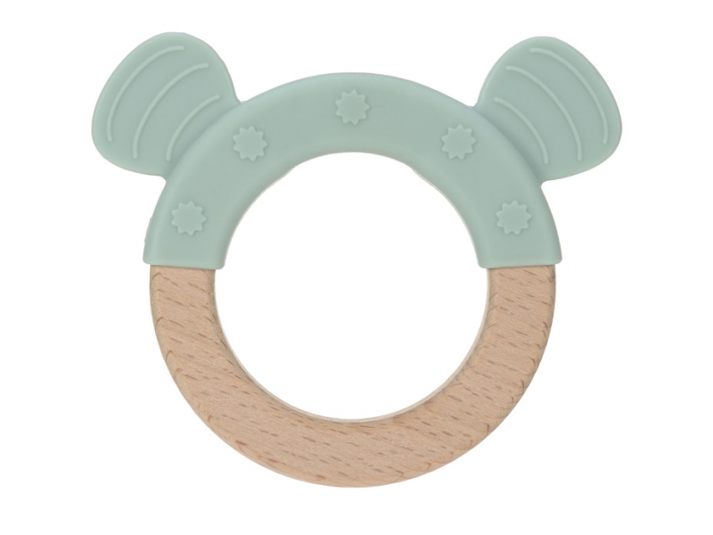 Kousátko Ring Wood/Silicone Little Chums dog 1
