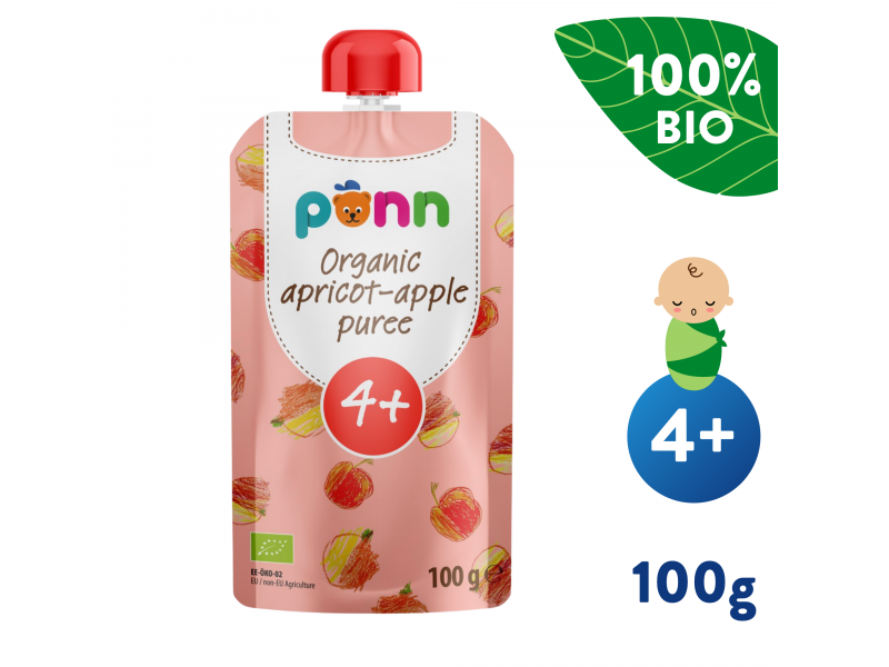 Ponn BIO Meruňka s jablkem (100 g) 1
