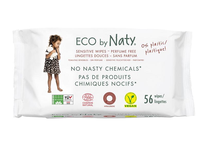 Naty Vlhčené ubrousky Nature Babycare bez vůně - pro citlivou pokožku (56 ks)