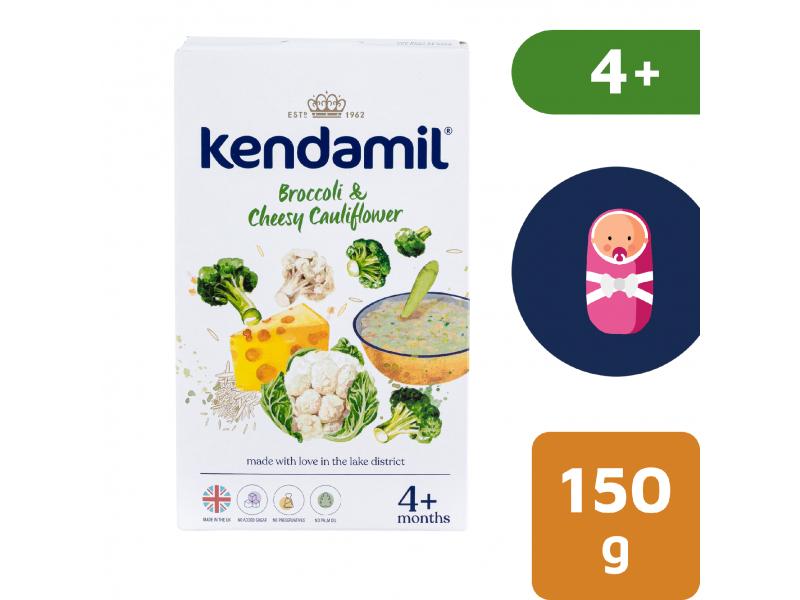 KENDAMIL Jemná bezlepková kaše s brokolicí, květákem a sýrem (150g) 1