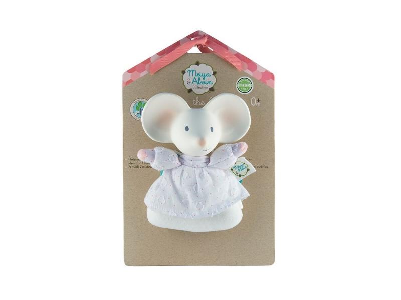 Meiya&Alvin Chrastítko / kousátko myška Meiya - 15cm výška