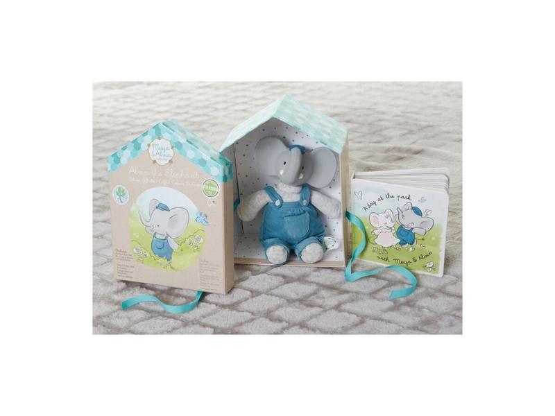 Dárkový set DELUXE knížka + hračka sloník Alvin 1