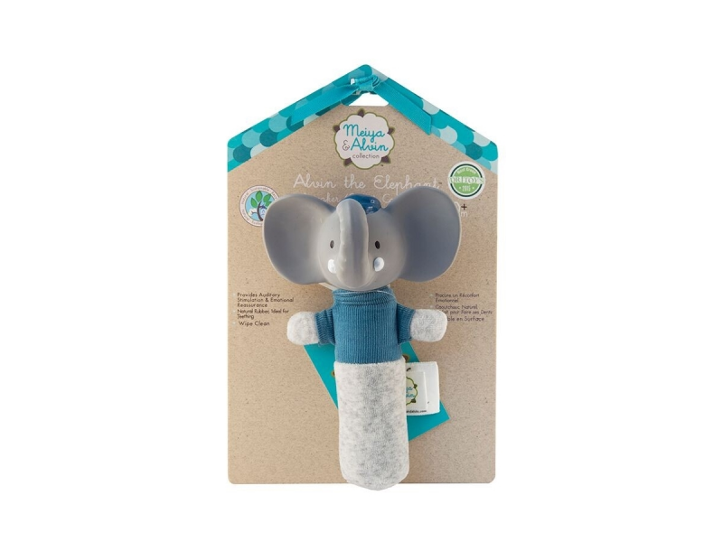 Meiya&Alvin Pískátko / kousátko slon Alvin-17cm