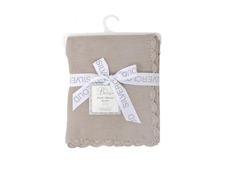 Silvercloud Pletená deka Baby Boutique - hnědá