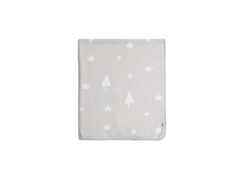 Tkaná deka hvězdy šedá 1
