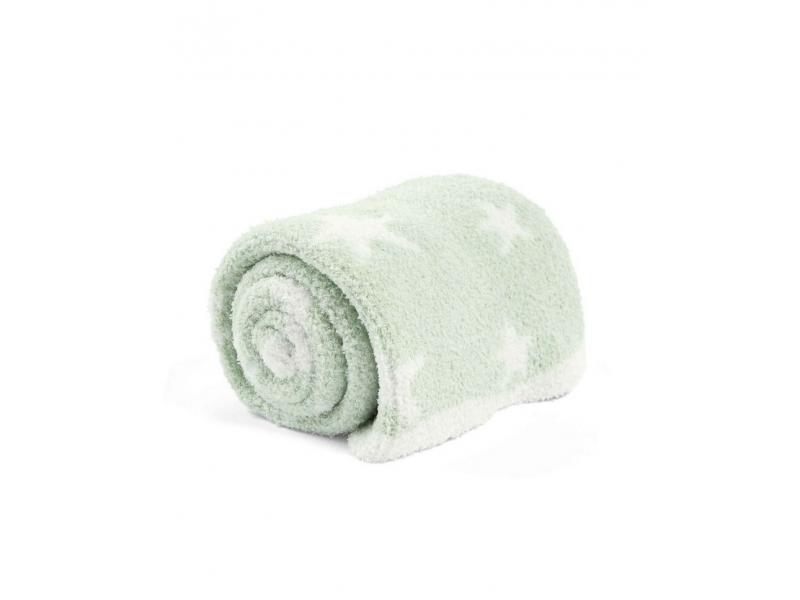 Pletená deka žinylka zelená 1