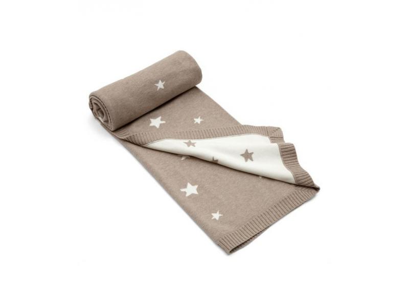 Pletená deka Millie & Boris hnědá 1