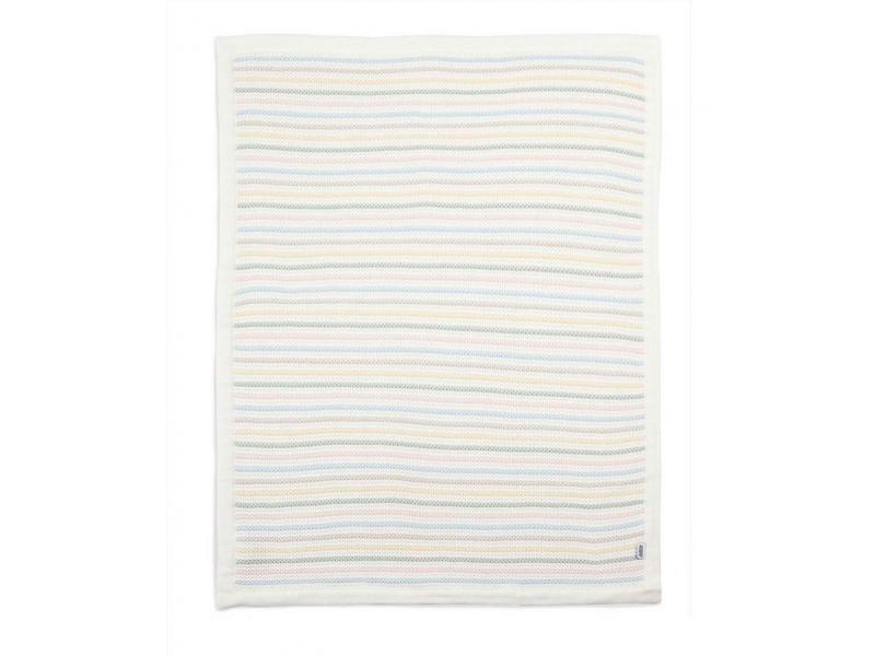 Pletená deka pastelové proužky 1