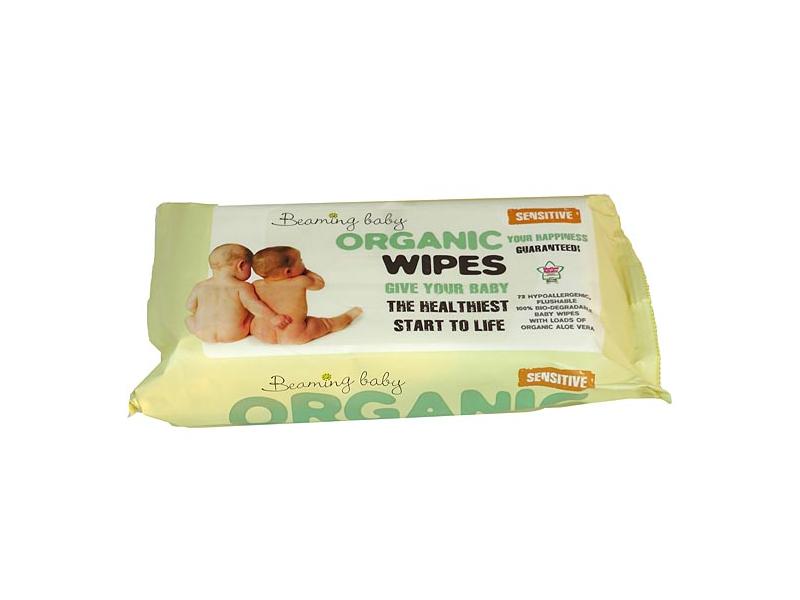 Organické vlhčené ubrousky Beaming baby s vůní (72 ks) 1