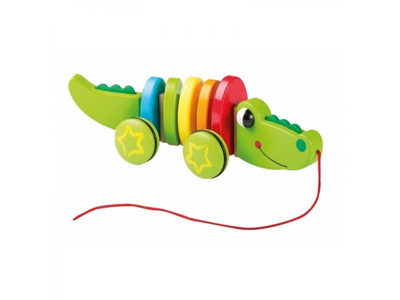 Dřevěný krokodýl 12m+ 1