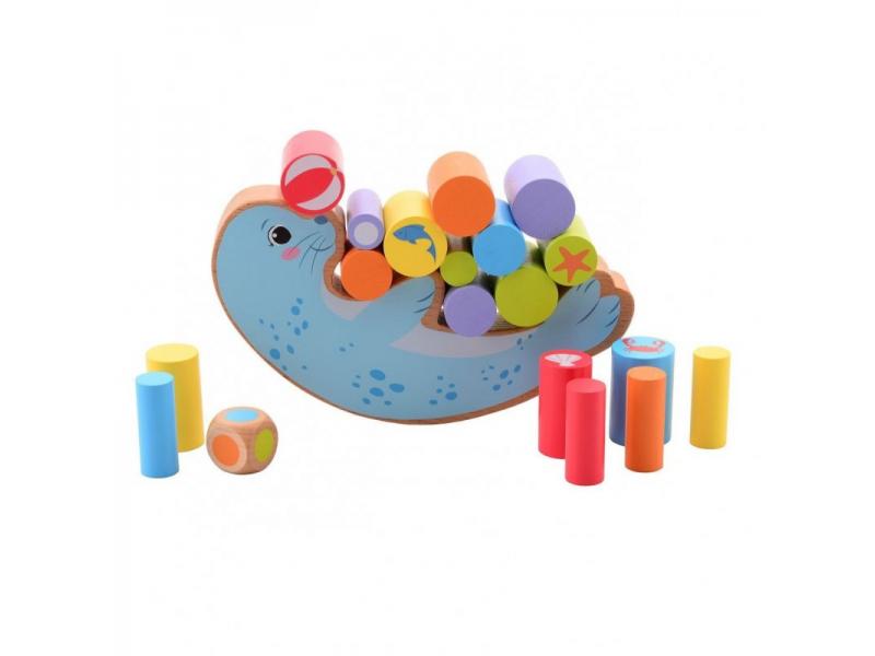 dřevěná balanční hra Tuleň 36m+ 1