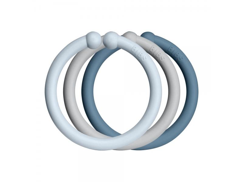 Loops kroužky 12 ks Baby Blue/Cloud/Petrol 1