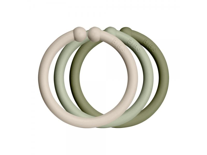 Loops kroužky 12 ks Vanilla/Sage/Olive 1
