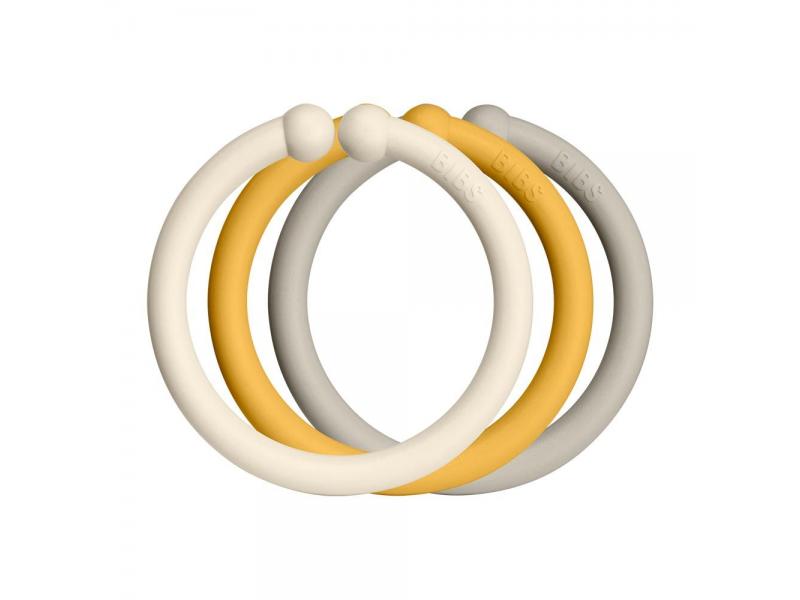 Loops kroužky 12 ks Ivory Honey/Honey Bee/Sand 1