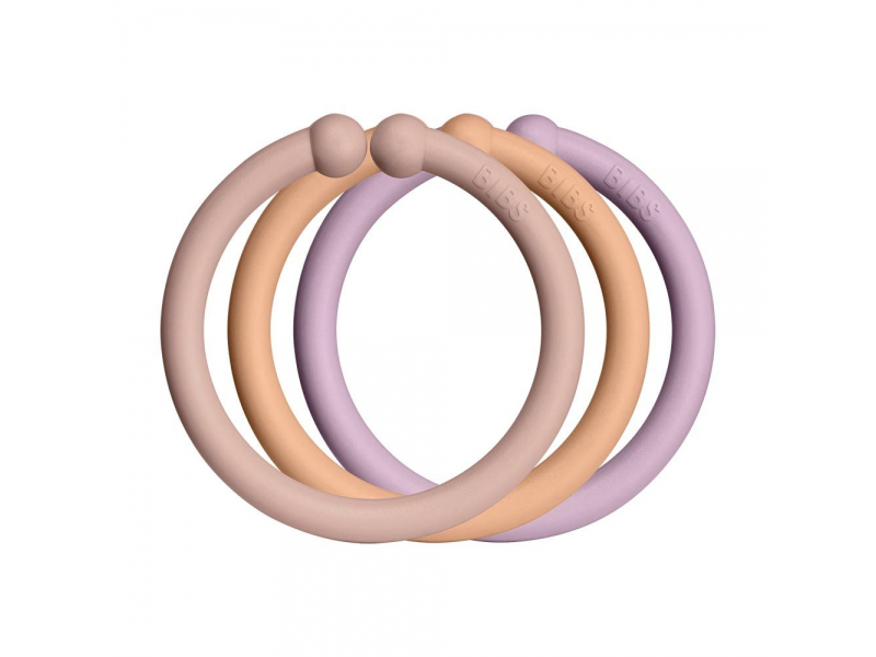 Loops kroužky 12 ks Blush Peach/Peach/Dusky Lilac 1