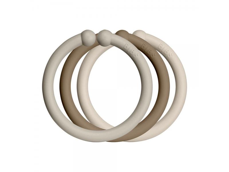 Loops kroužky 12 ks Sand Dark/Dark Oak/Vanilla 1