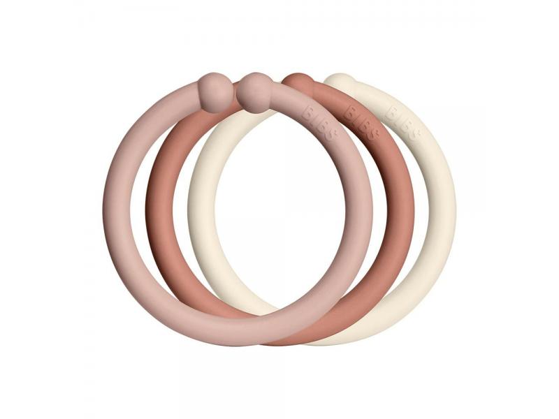 Loops kroužky 12 ks Blush/Woodchuck/Ivory 1