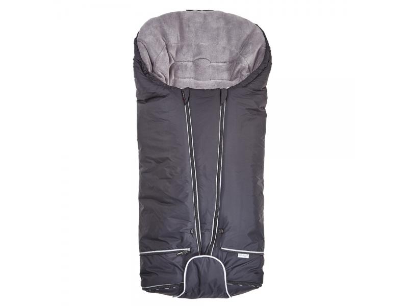 Set svítíci fusak Exclusive Outlast®a rukavice na kočár45x90cm,50x100cmčerná/šedá 1