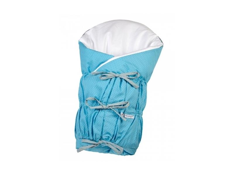 Zavinovačka šněrovací pevná záda ANGEL - Outlast® 77x77cm modrá puntík šedý 1