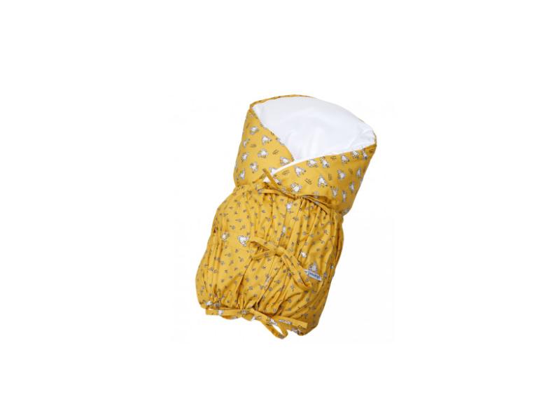 Zavinovačka šněrovací pevná záda ANGEL - Outlast® 77x77cm žlutá myšky 1