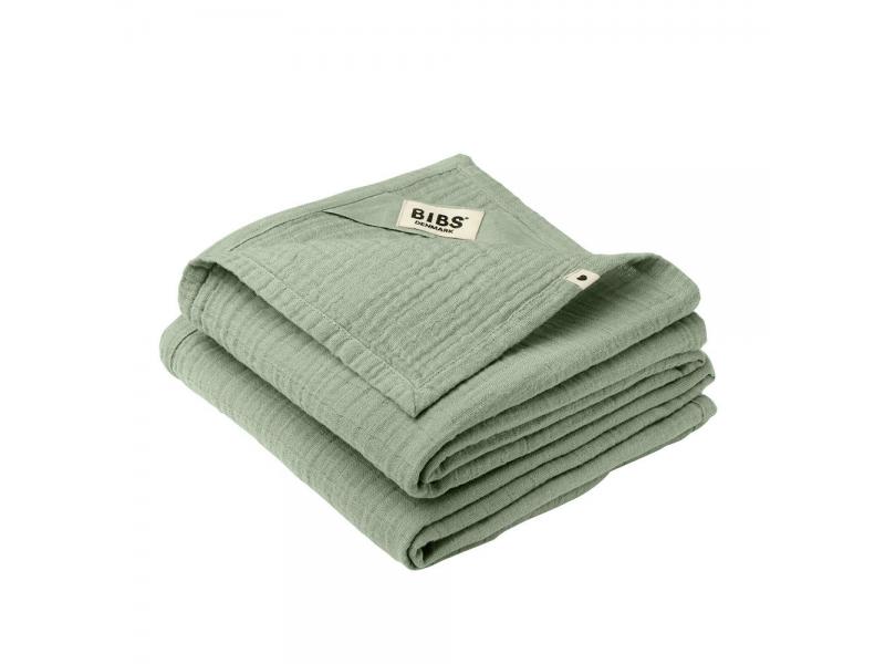 Mušelínové plenky z BIO bavlny 2ks, Sage 1