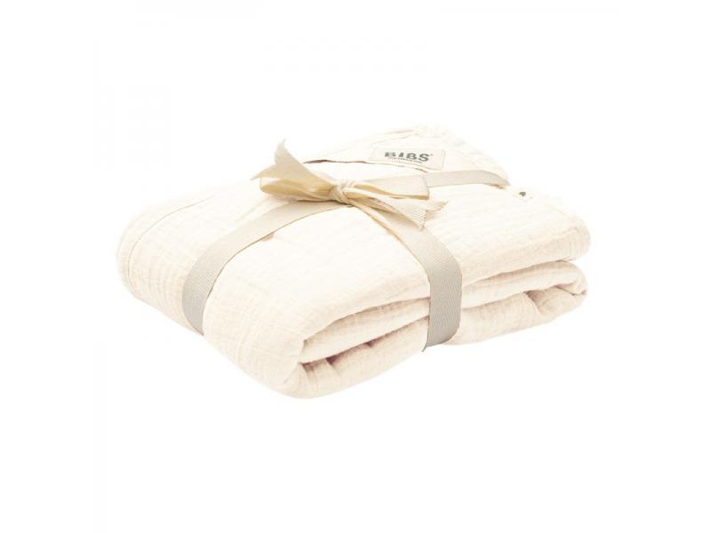 Mušelínová zavinovačka z BIO bavlny, Ivory 1