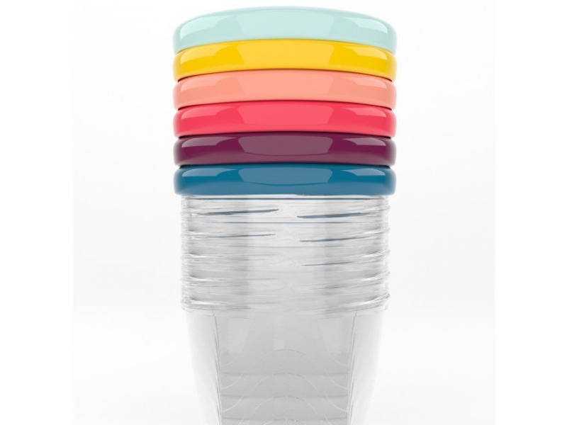 barevné misky s víčky 250ml - sada 6ks 1