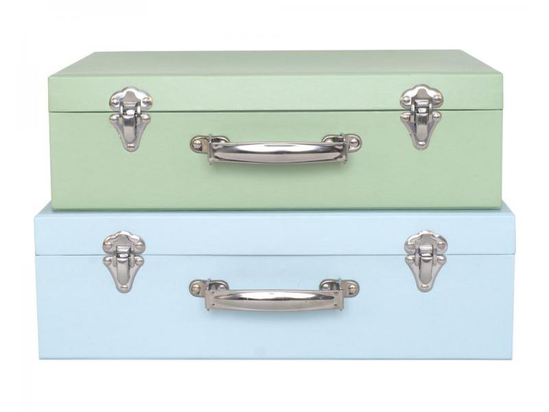 Kufr zelený / modrý 1