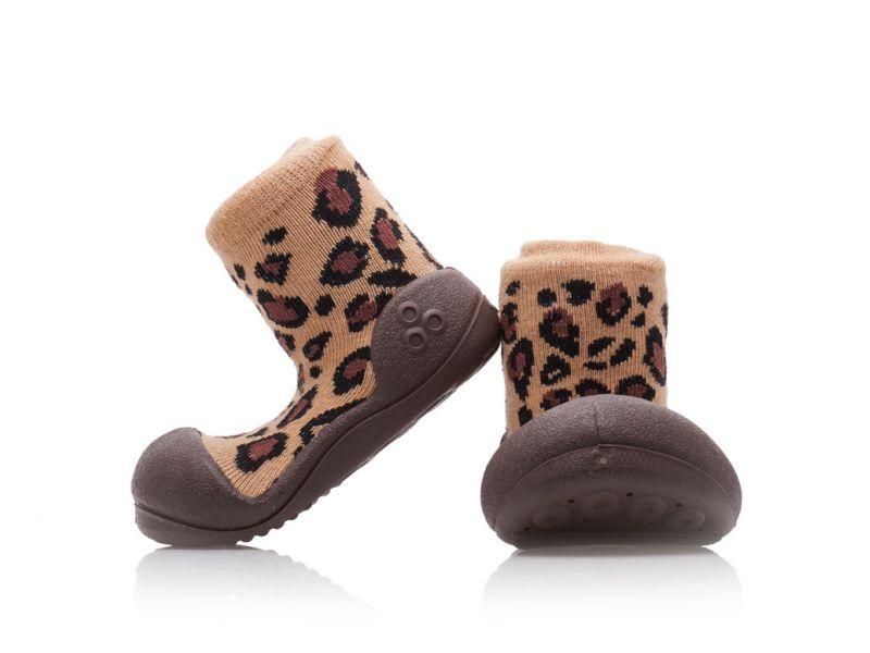 Botičky Animal Leopard Brown S 1