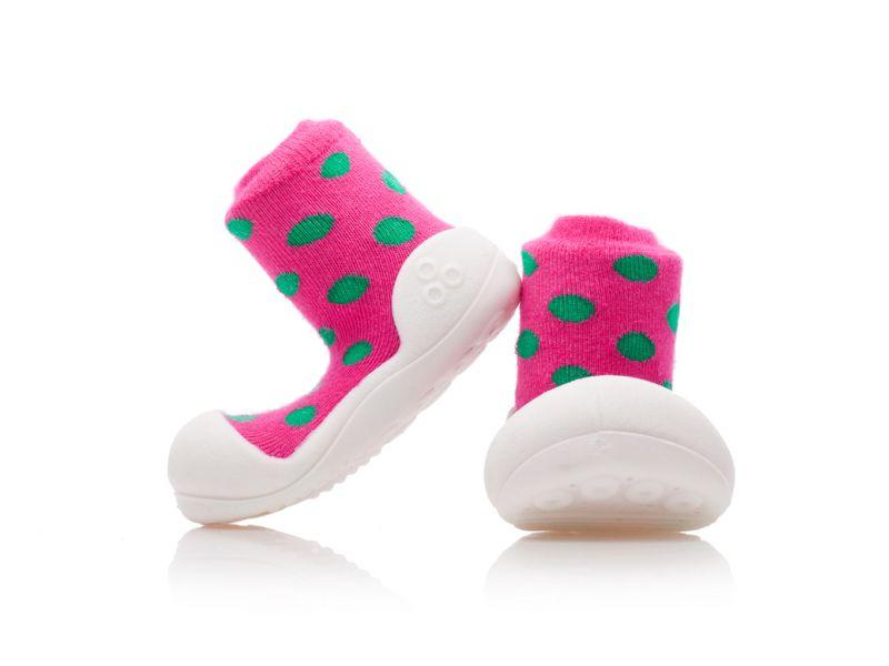 Botičky Polka Dot Pink L 1