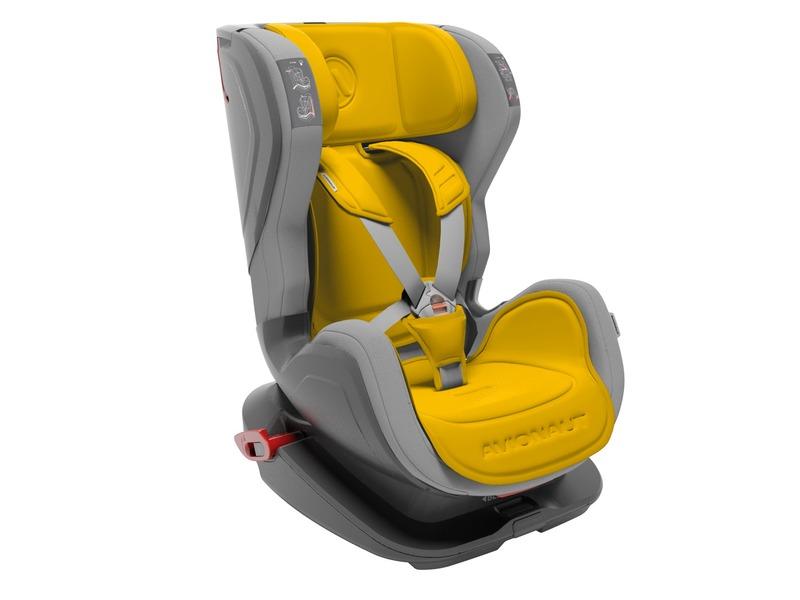 Avionaut Autosedačka GLIDER FIT (9-25) šedá / žlutá