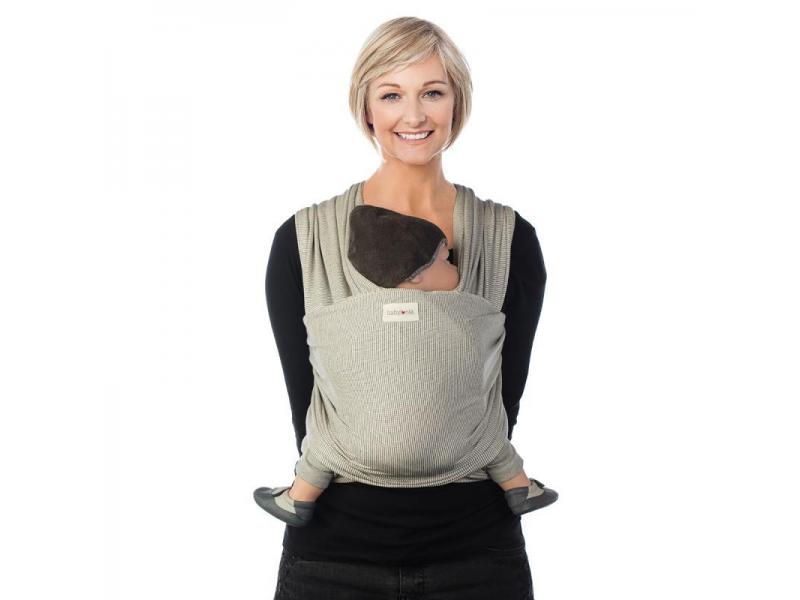 TRICOT-SLEN Design šátek na nošení dětí col. 601 white stipple 1