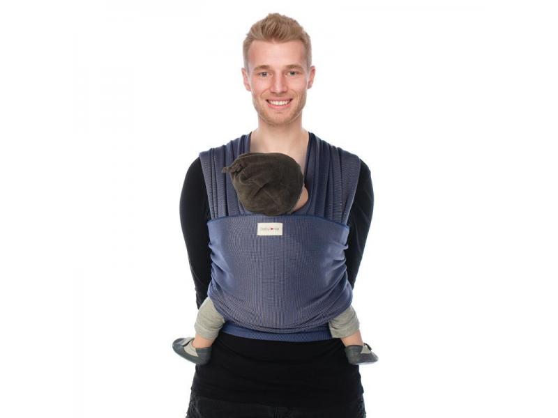 TRICOT-SLEN Design šátek na nošení dětí col. 602 blue stipple 1