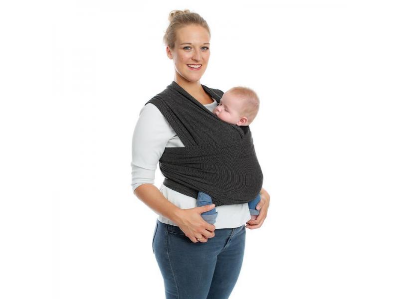 TRICOT-SLEN Design šátek na nošení dětí col. 603 black stipple 1