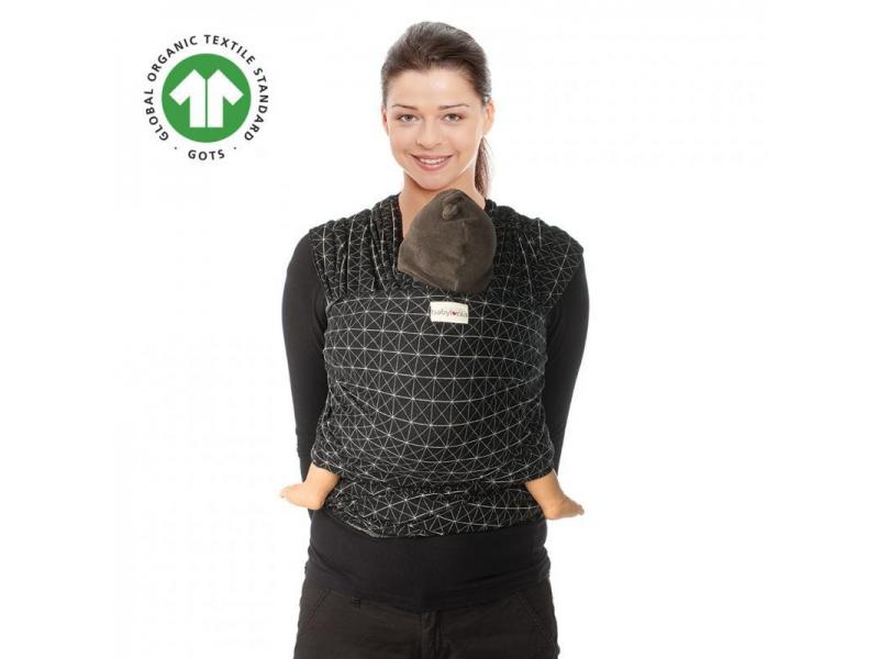 TRICOT-SLEN Design šátek na nošení dětí col. 608 black diamond 1