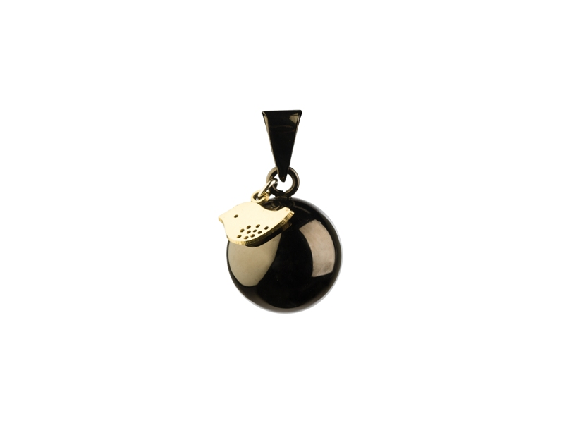 BOLA Black with gold bird charm 1