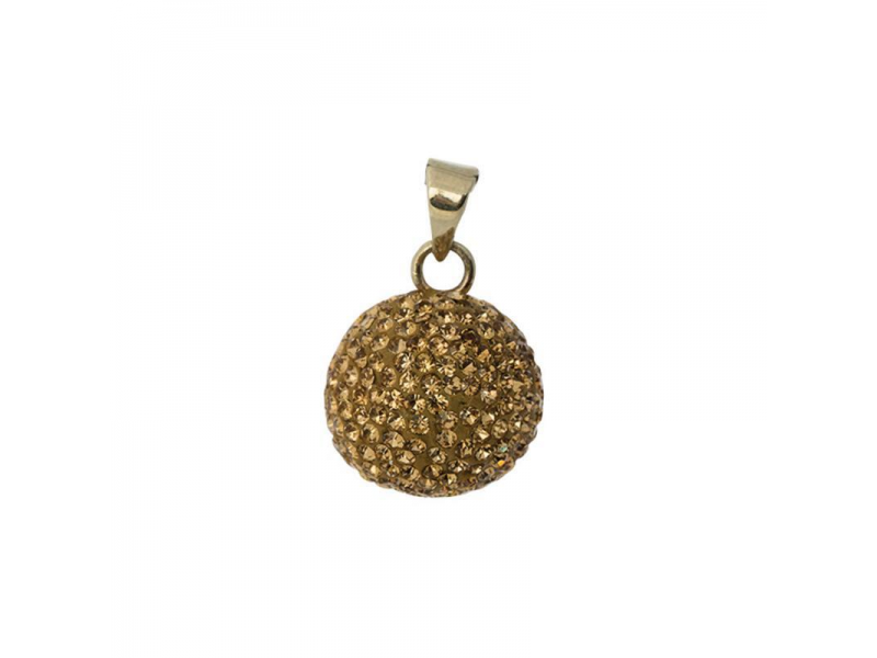BOLA goldplated with glitter stones 1