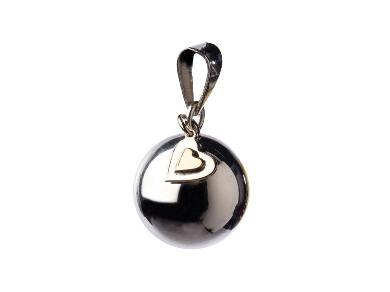 BOLA silver with heart charm 1