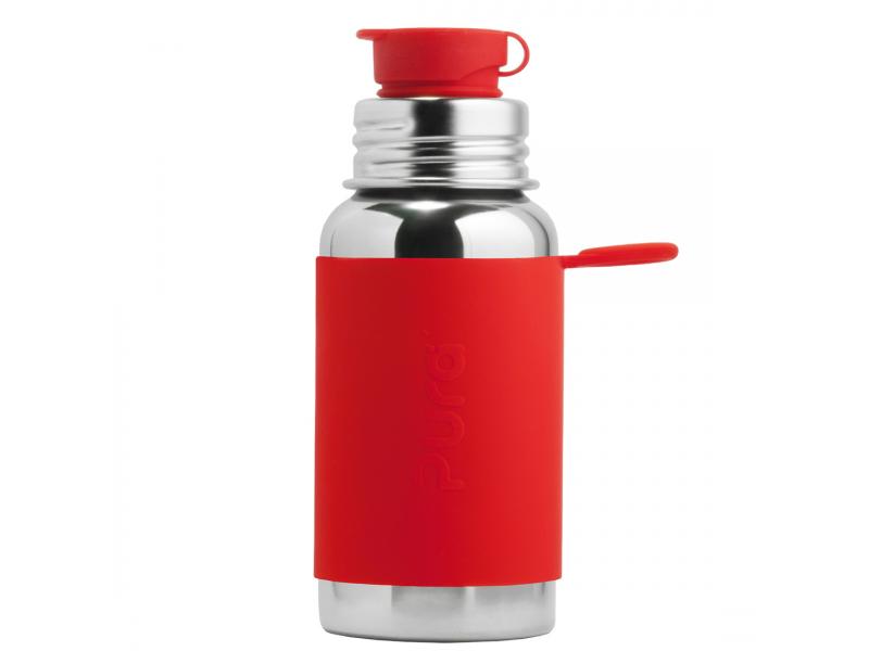 Pura Nerezová láhev se sportovním uzávěrem 550ml - červená