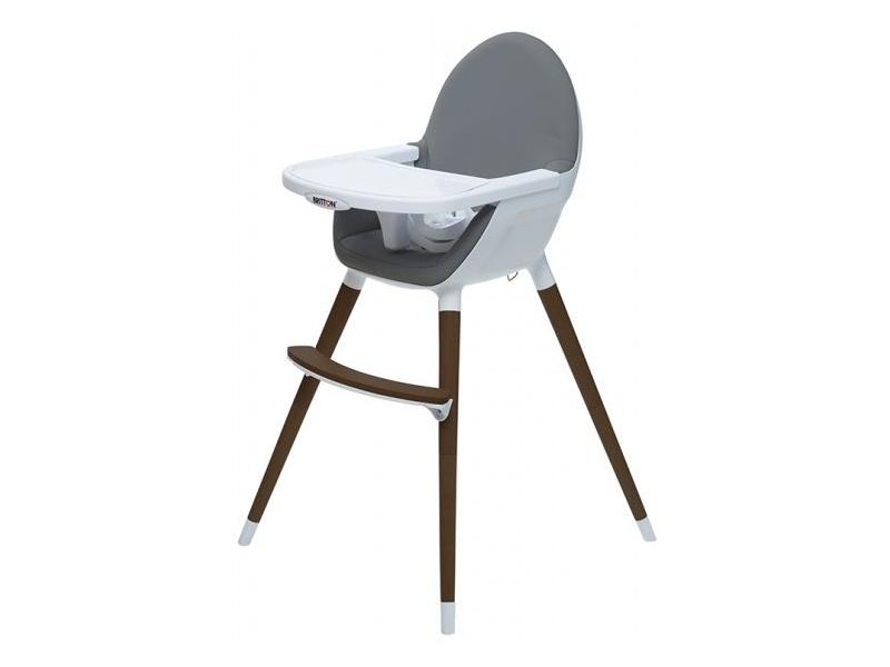 Jídelní židlička FIKA tmavě šedá 1